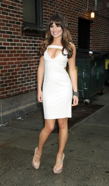 Lea Michele at David Letterman