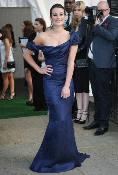Lea Michele royal blue