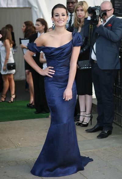 Lea Michele royal blue