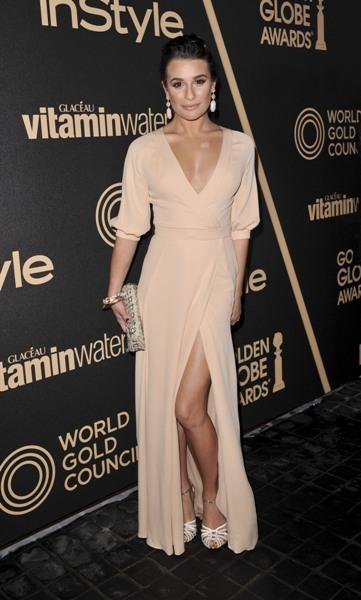 Lea Michele nude gown
