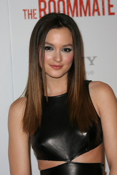 Leighton Meester&#039;s sexy, sleek hairstyle