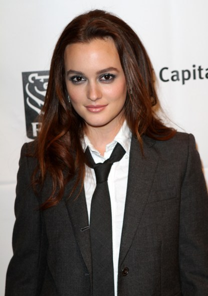 Leighton Meester's rich red color