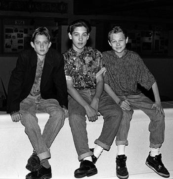 Leonardo DiCaprio and Tobey Maguire photographed as kids.