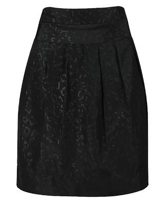 Leopard Melted Woven Skirt