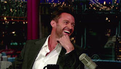 Hugh Jackman laughs it up on Letterman