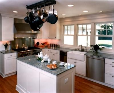 Family-friendly white kitchen