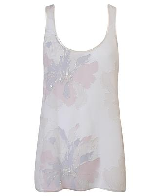 Light Floral Woven Top