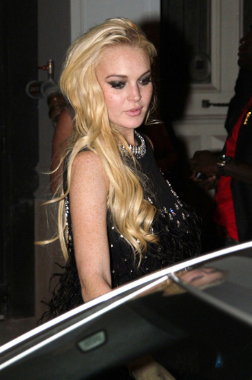 Lindsay Lohan looking... fresh