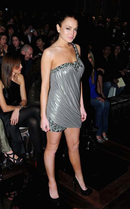 Lindsay Lohan at Robert Cavalli's Fall/Winter 2010
