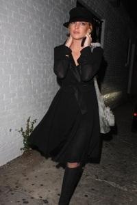 Lindsay Lohan goes goth