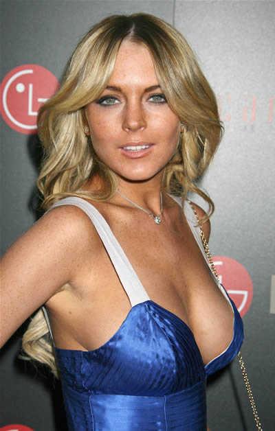 Lindsay Lohan on LG's Red Carpet