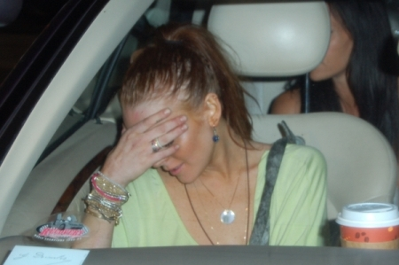 Lindsay Lohan no longer in the driver's seat