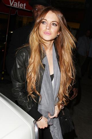 Lindsay Lohan lip service