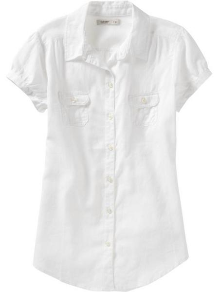 Linen-Blend Button-Front Shirt