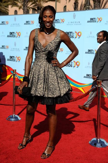 Lisa Leslie Attends the 2009 BET Awards