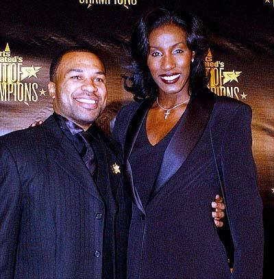Lisa Leslie with Derek Fisher