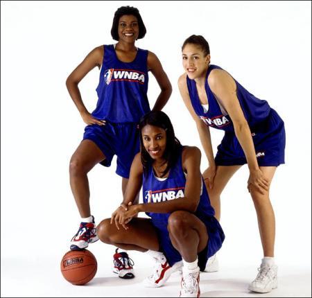 Lisa Leslie, Sheryl Swoopes and Rebecca Lobo