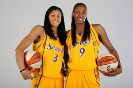 Lisa Leslie with Teammate Candace Parker