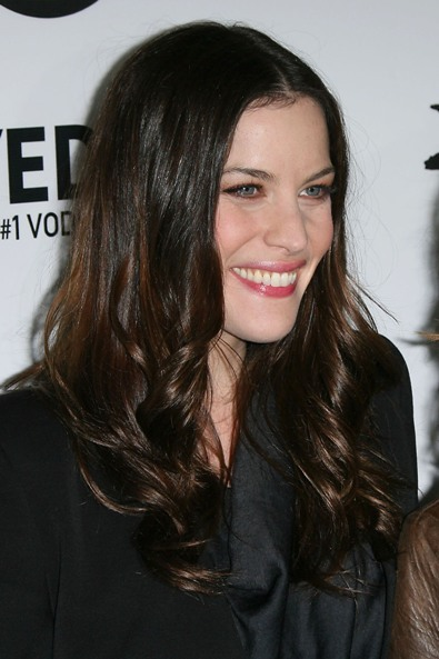Liv Tyler's long hairstyle