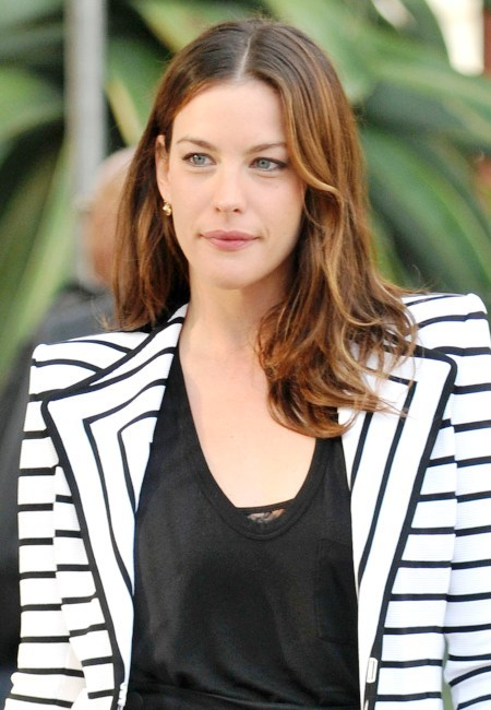 Liv Tyler's long, loose hairstyle