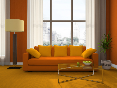 Living Room Decoration on Orange Living Room   Red  Yellow   Orange Themes