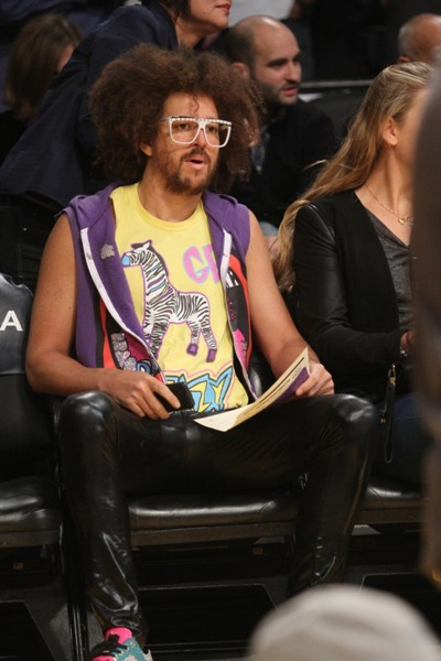 Redfoo at the Lakers game