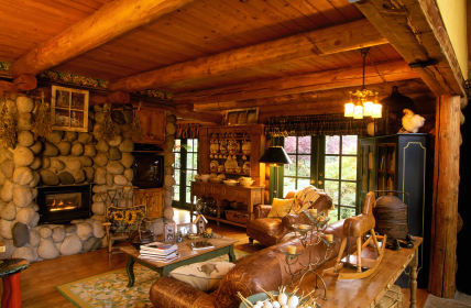 Cottage Log Interior