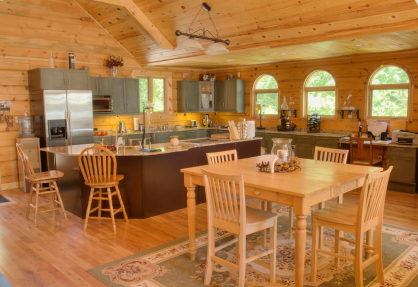 Log Home Kitchen Country Homes Log Home Kitchen