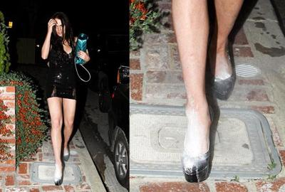 Lindsay Lohan Powder Shoes
