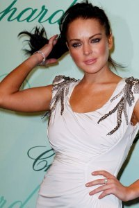 Lindsay Lohan celebrating Chopard in Cannes
