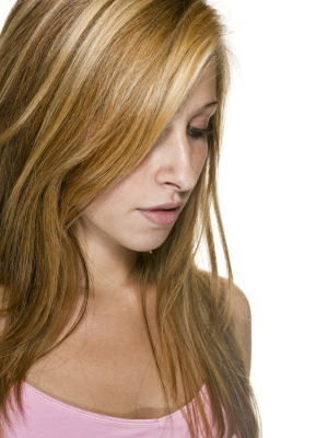 Long hair - Layers with highlights