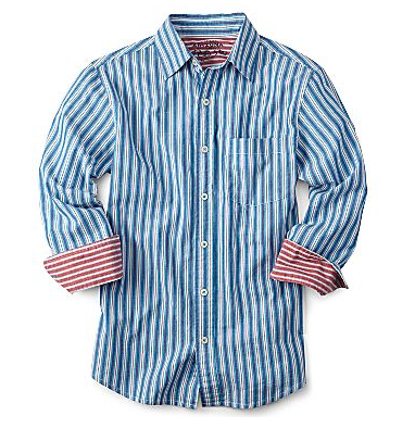 Long-sleeve woven shirt