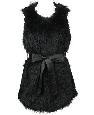 Forever 21 Long Shag Faux Fur Vest