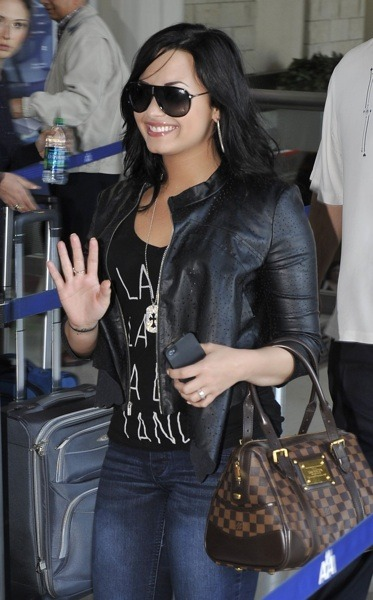 Demo Lovato's black hair color