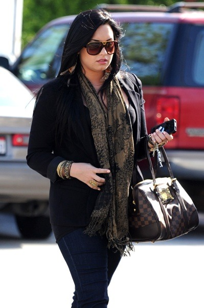 Demi Lovato with paisley scarf