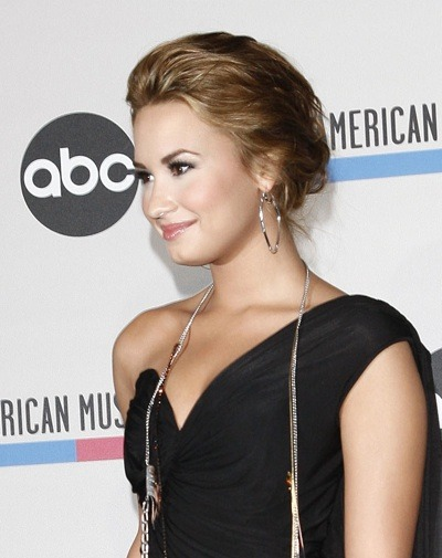 Demi Lovato with highlights