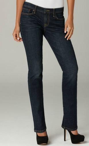 Straight leg denim bottoms