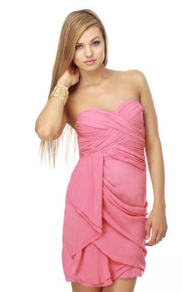 Pink drapey dress