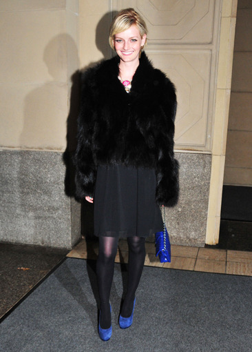 Lydia Hearst outside the Hearst building in NYC