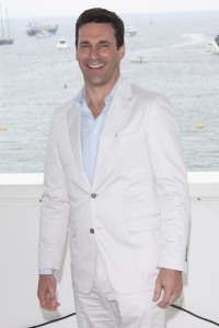 Jon Hamm in all white