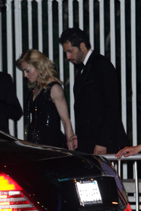 Madonna at the Vanity Fair Oscar party