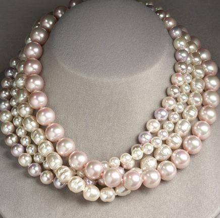 Majorica Four Strand Pearl Necklace