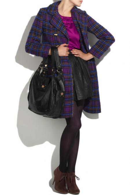 Marc by Marc Jacobs checked coat