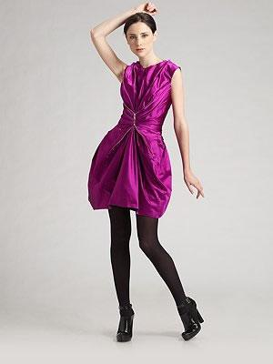 Marc Jacobs Sleeveless Gathered Silk Dress