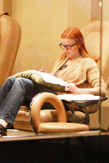 Marcia Cross gets a mani/pedi in Santa Monica