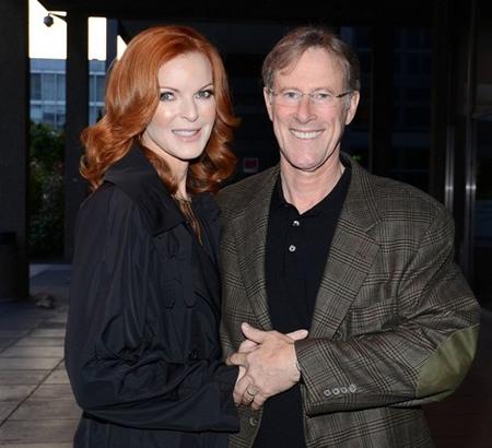Marcia Cross and Tom Mahoney