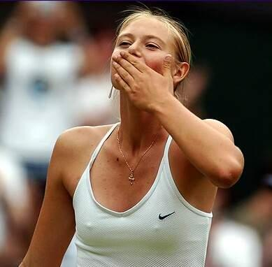 Maria Sharapova in 2004 at Wimbledon