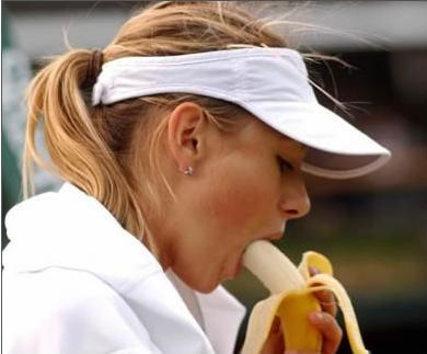 Maria Sharapova Eating a Banana