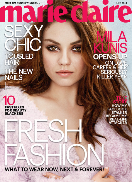 Mila Kunis, Marie Claire July 2014