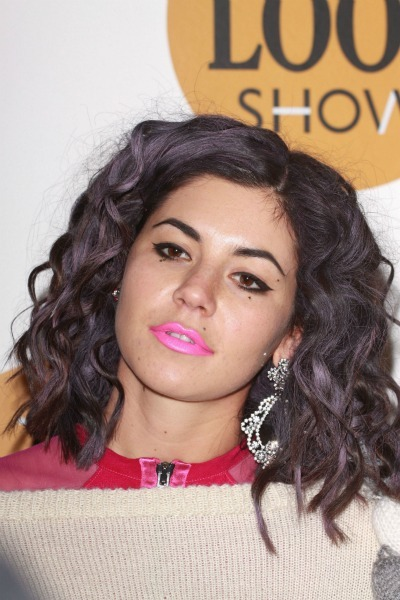 Marina Diamandis' purple curls